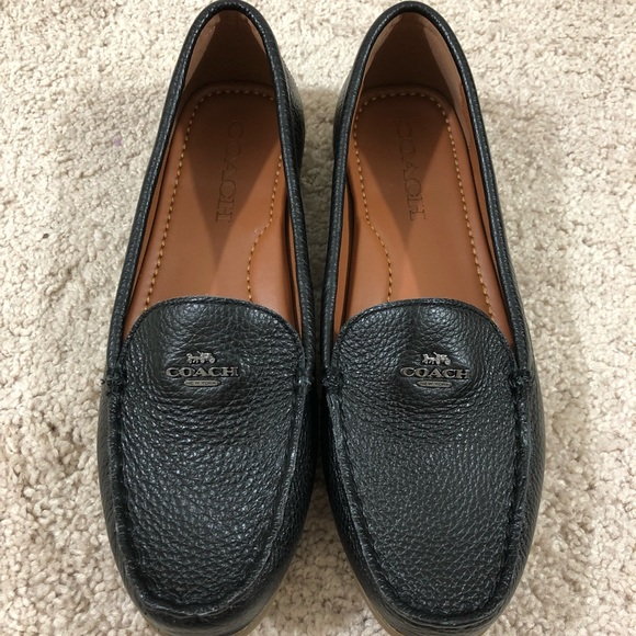 99af3ca79 Coach Shoes | Womens Black Leather Loafers Size 7 | Poshmark